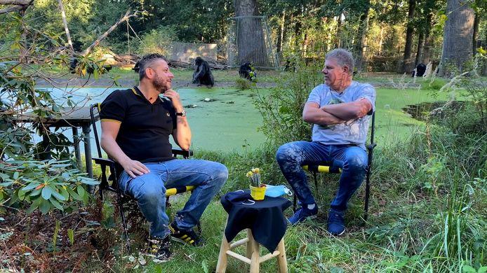 In de Les van Vites bespreken Lex Lammers en Bjorn Courbois de gang van zaken rondom de Arnhemse club. Deze keer vanuit het Burgers' Zoo. BEELD Ruben Stavorinus