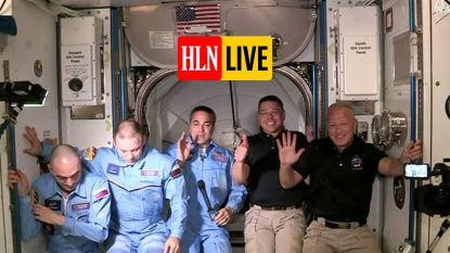 HLN LIVE. NASA-astronauten Bob Behnken en Doug Hurley geven persconferentie over SpaceX-missie vanuit het ISS