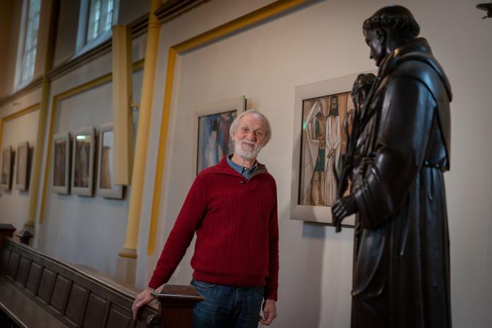 Henk Brummer van de organisatie 100 jaar Kruiswegstaties Jan Toorop.