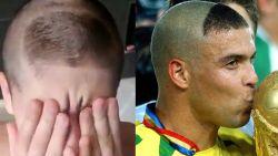 Papa haalt grap uit met zoontje dat kapsel van Ronaldo wil