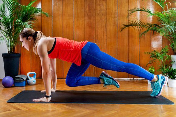 De cardio-oefeningen zijn eenvoudig vanuit huis te doen.