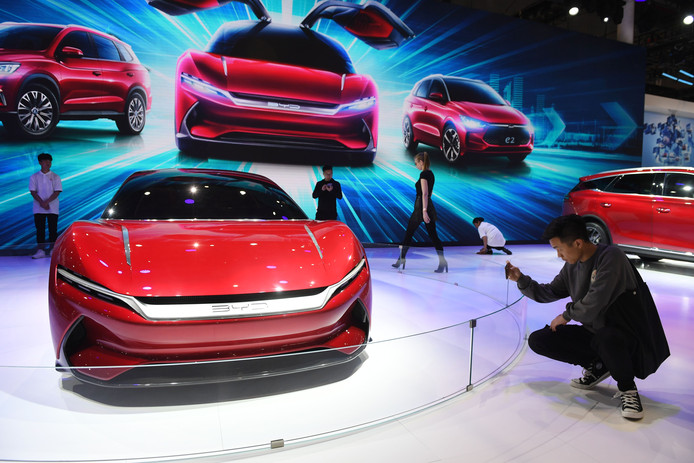 De E-SEED, een concept-car van de Chinese fabrikant BYD.