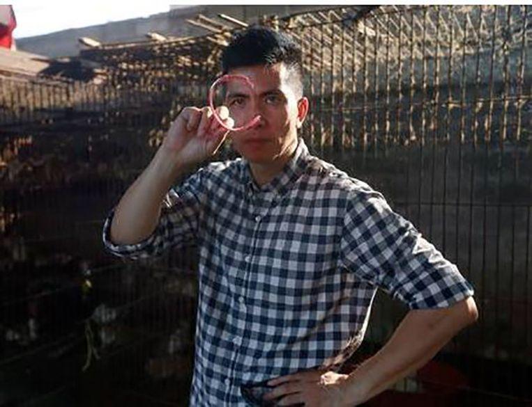 Undercover activist Peter Li vond halsbanden van katten en honden in de slachthuizen in Yulin.