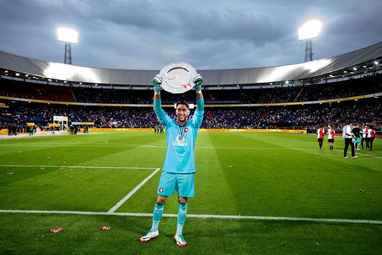 De Johan Cruijff Schaal ging vorig jaar naar Feyenoord. Beeld anp