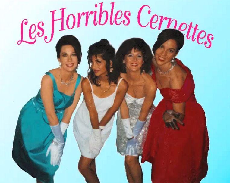 Les Horribles Cernettes (een parodie-popgroep) was in 1992 de eerste band ter wereld met een website. Beeld