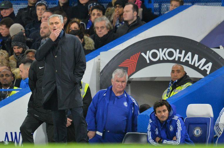 José Mourinho na de nederlaag. Beeld afp