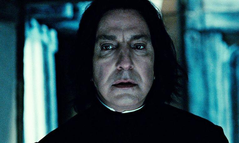 Alan Rickman als professor Sneep in de Harry Potter-reeks. Beeld AP