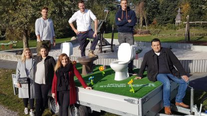 Hoogstraten Leeft voert actie met mobiele toiletwagen