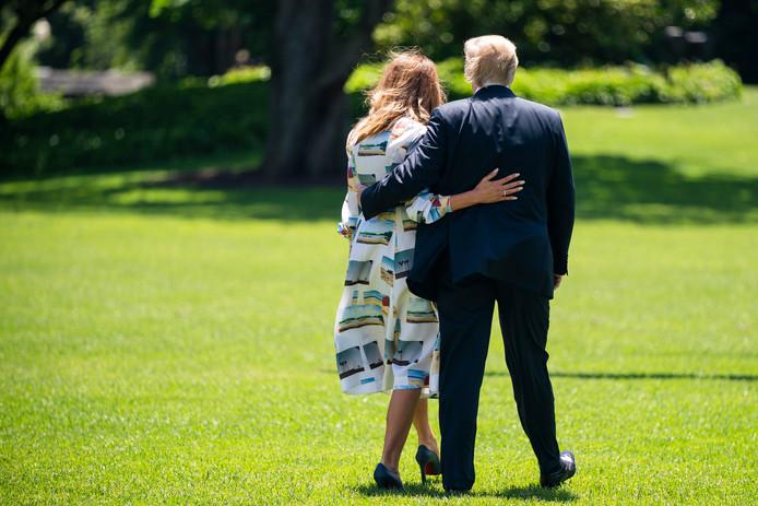 Vlak voor vertrek vanaf het Witte Huis, op 24 mei.