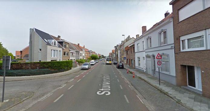 De Stuiverstraat in Stene bij Oostende, het gedeelte waar zone 30 geldt.