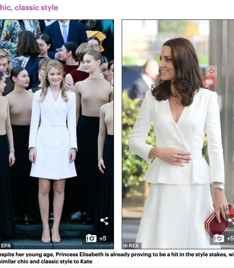 "La presse britannique compare la princesse Elisabeth à Kate Middleton: ""Beaucoup de choses en commun"""