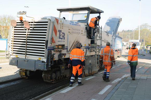 Illustratiebeeld asfalteringswerken.