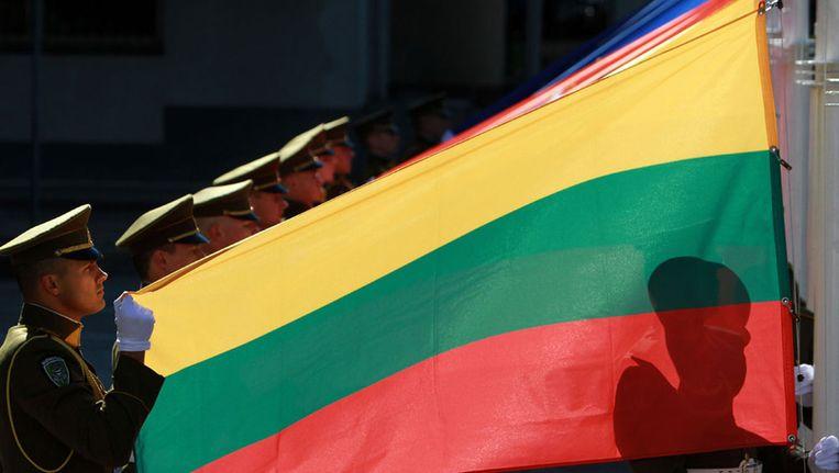 Vlag van Litouwen Beeld afp