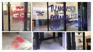 Feministische militanten bekladden hoofdkwartier N-VA, ook tags bij FOD Justitie