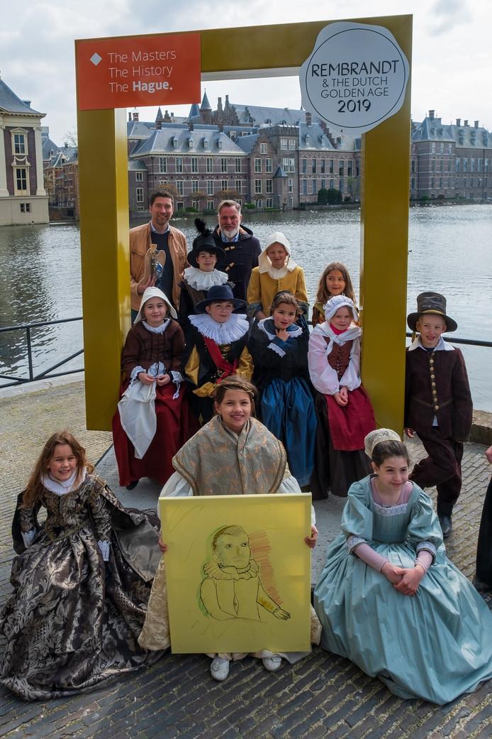 De 9-jarige Isis van Veldhoven is 'Jongste Haagse Meester, Rembrandt voor een dag'.