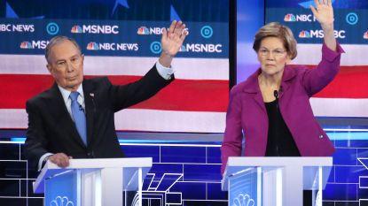 """Warren geeft Bloomberg enorme bolwassing bij diens eerste debat: """"U bent dus aardig geweest tegen sómmige vrouwen?"""""""