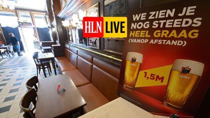 LIVE. Crisiscentrum roept op om nog steeds maximaal in te zetten op telewerk en om op te passen in kantines na het sporten - Na Brussel ook in Vlaamse rand cafés om 23 uur dicht?