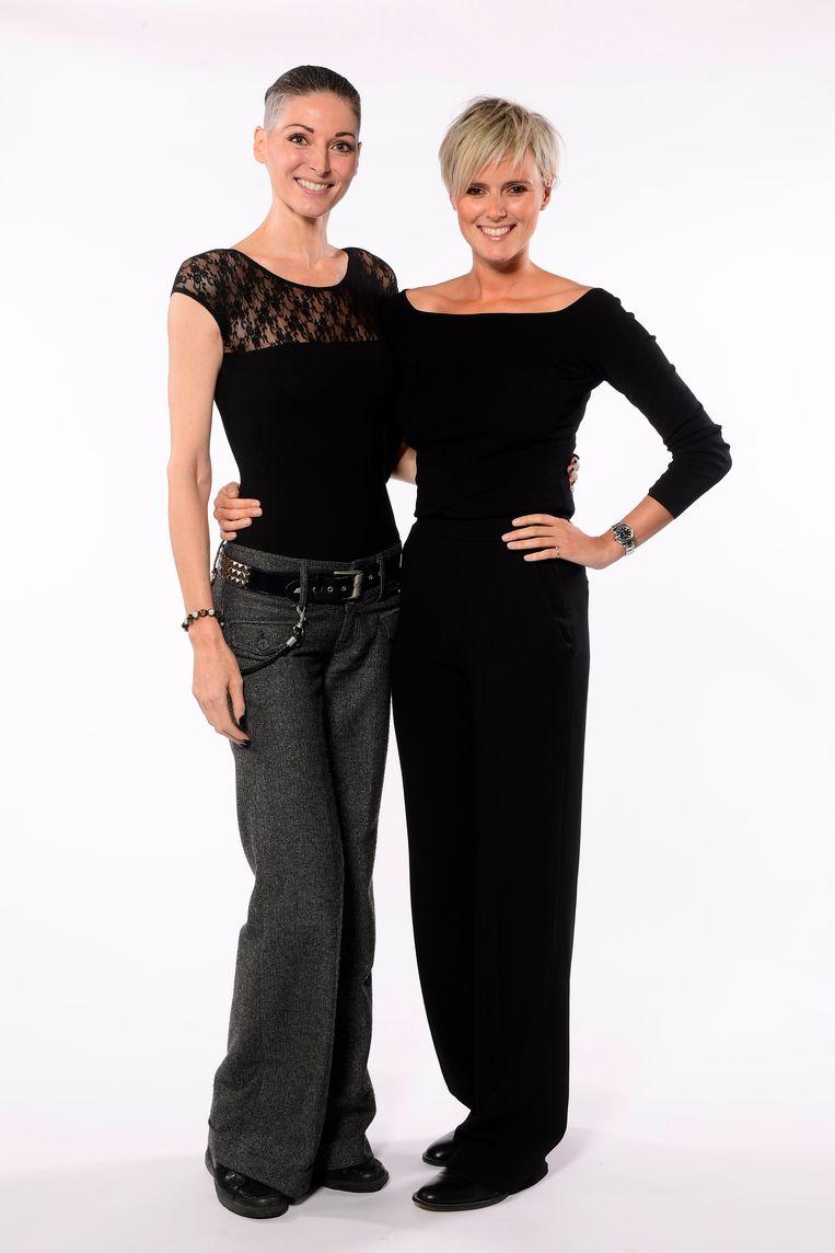 Stephanie Clerckx met Edith Marin, ooit nog deelneemster aan Big Brother.