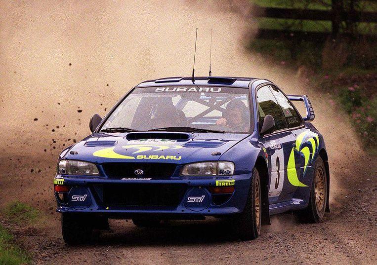 Een Subaru Impreza, niet de beste wagen om je aan de snelheidsregels te houden, vond de politierechter.