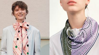 Klassieke zijden sjaaltjes zijn weer in de mode en zo draag je ze