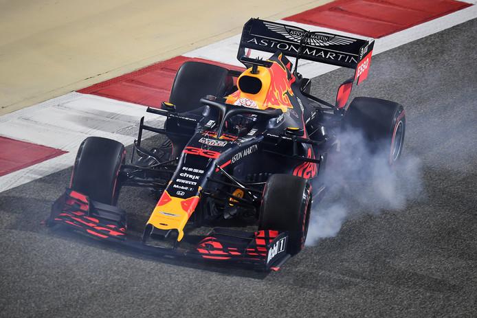 Max Verstappen in actie tijdens de Grote Prijs van Bahrein.