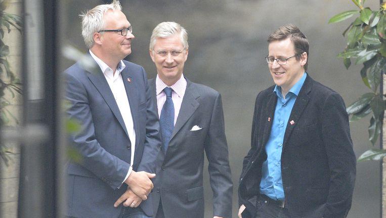 De koning ontving ook Peter Mertens van de PVDA+ en David Pestieau van de PTB in het paleis in Brussel.