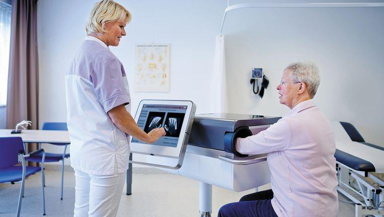 Nieuwe scanner voor reumahanden. Van bedrijf Hemics. Beeld Hemics.