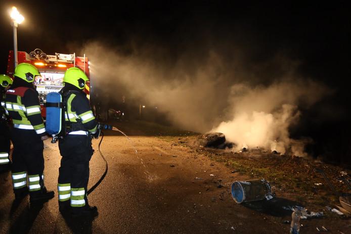 Twee brandjes kort na elkaar in Poederoijen
