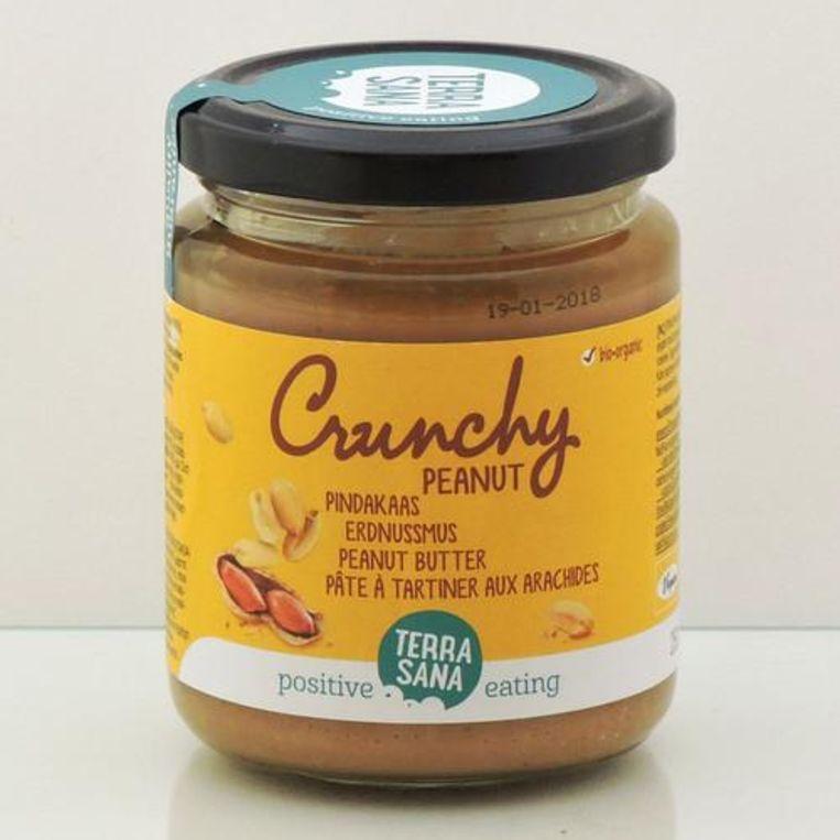 8: Terrasana Crunchy peanut; 250 g. 2,53 euro (1,01 euro /100 g.) Beeld