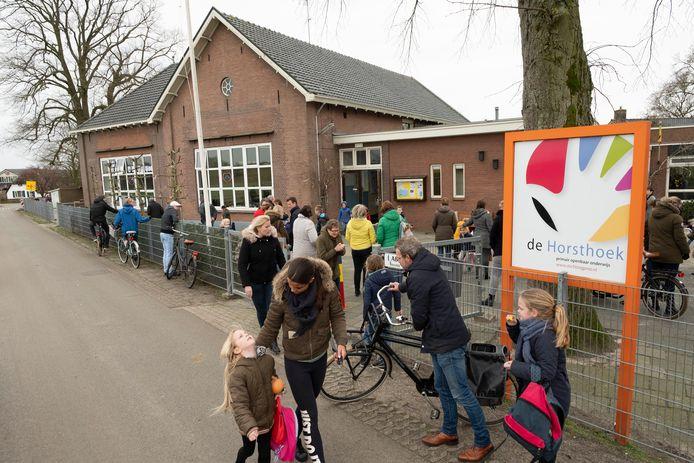 De Horsthoekschool in maart een jaar geleden (archieffoto).