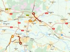 Files op A12 bij Duiven richting Duitsland en A73 richting noorden