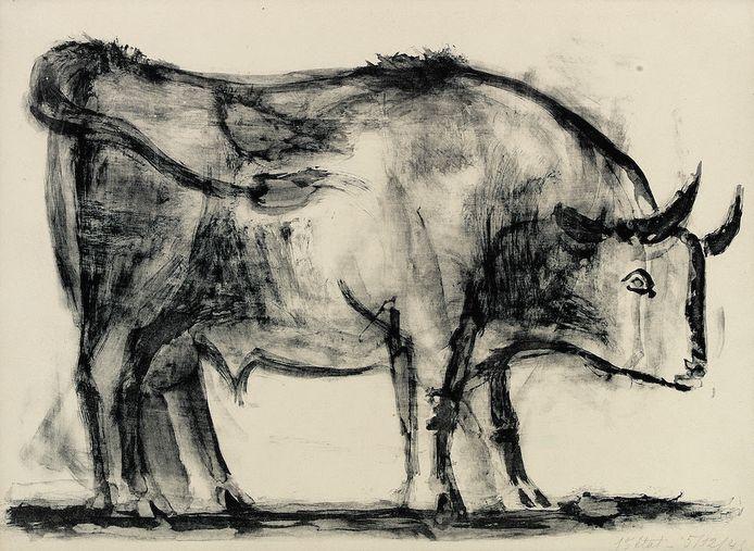 Onder meer deze stier van Picasso is vanaf 2 februari in Enschede te zien