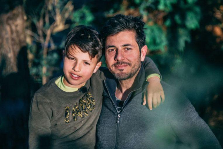 Dieter en zijn zoon.