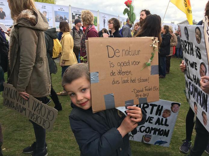 De 5-jarige David Fiolet.