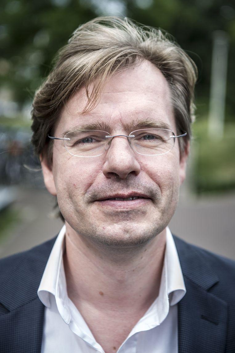 Gert-Jan van der Heiden, hoogleraar metafysica aan de Radboud Universiteit. Beeld Koen Verheijden