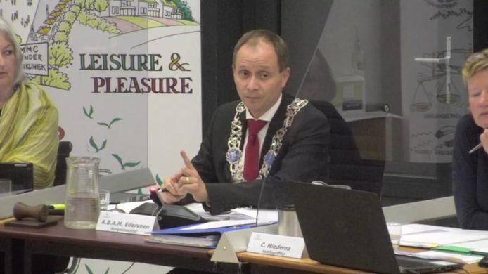 Burgemeester Anton Ederveen van Valkenswaard.