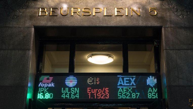 Beleggers bleven de ontwikkelingen rond de brexit en de Italiaanse begrotingsplannen volgen Beeld anp