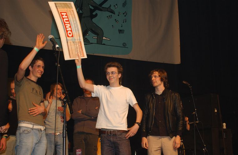 2004: The Van Jets winnen Humo's Rock Rally in Brussel
