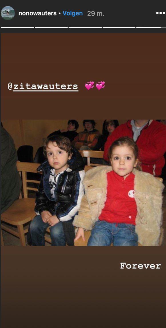 Nono postte een foto van zijn zus.