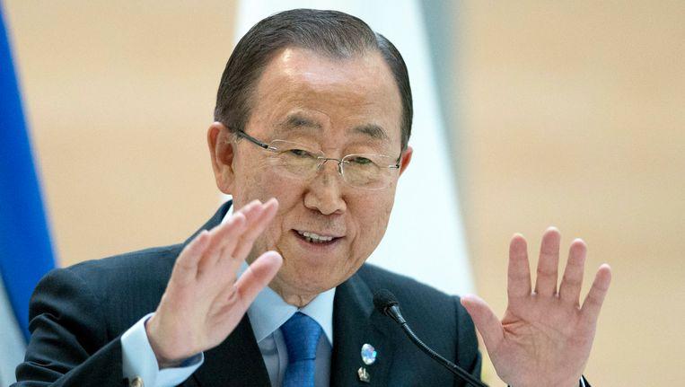 VN-chef Ban ki-Moon, die eind van dit jaar aftreedt. Beeld AP