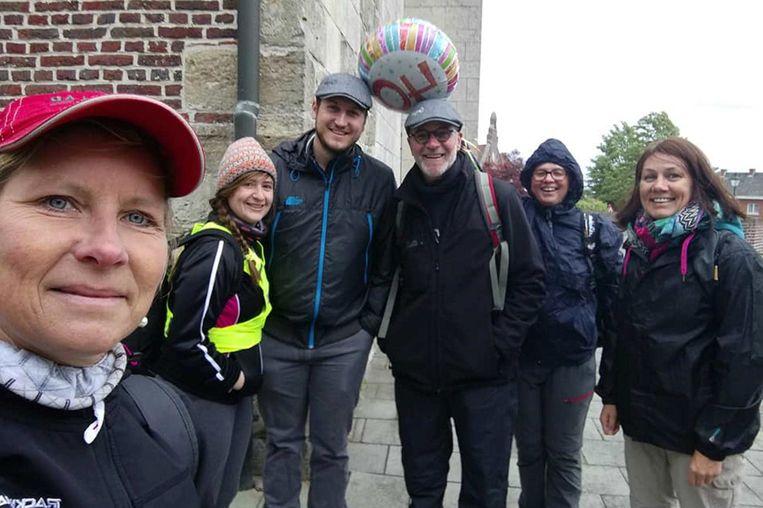 Jan kreeg voor zijn 40ste tocht gezelschap van enkele sympathisanten.