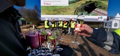Bouw natuurbrug De Mortelen over spoor Boxtel-Eindhoven begonnen