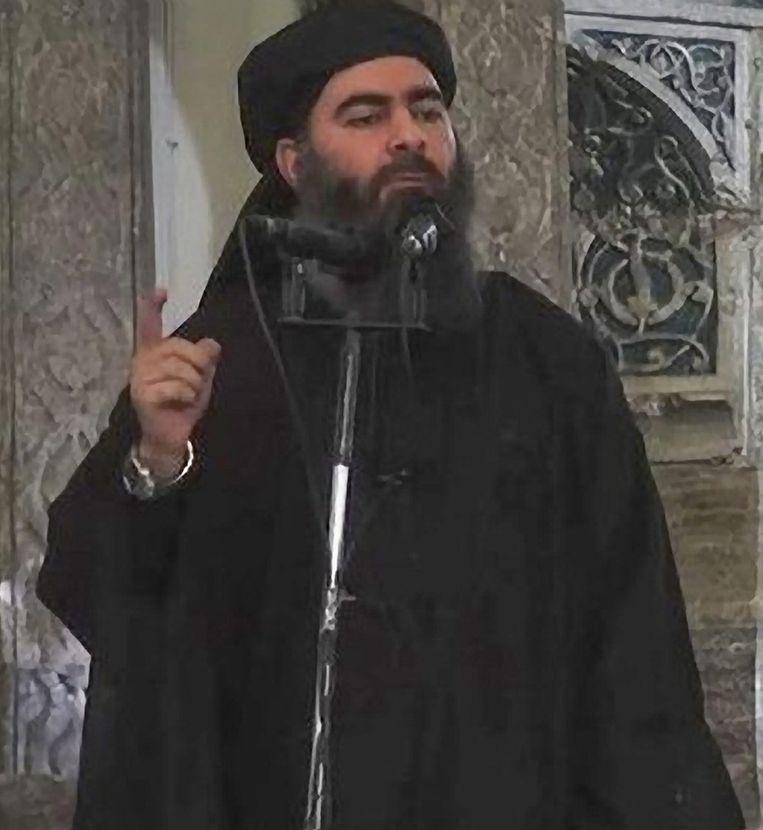 Aboe Bakr al-Baghdadi, de zelfbenoemde kalief. Beeld Islamitische Staat