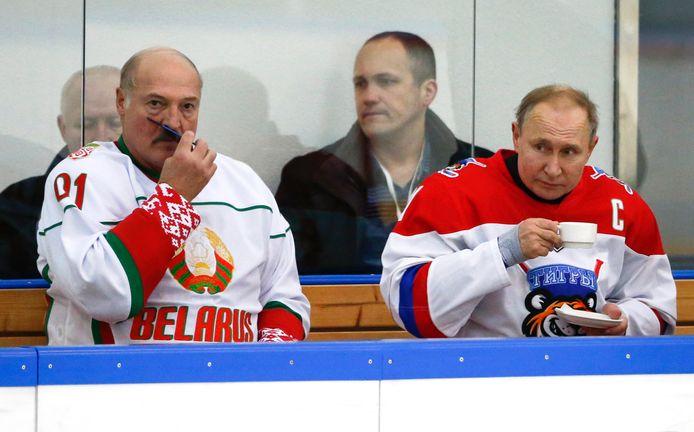 Op 7 februari ijsockeyden Loekasjenko en de Russische president Vladimir Poetin nog samen.