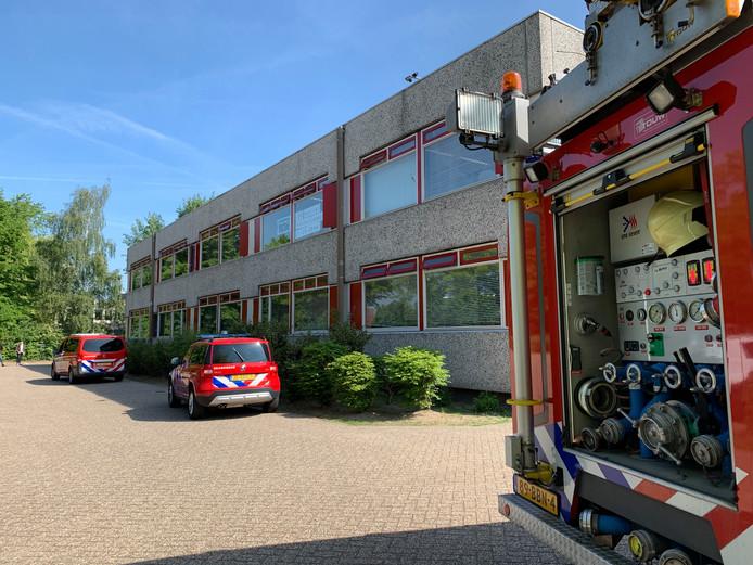 Brandweer bij Jeroen Bosch College