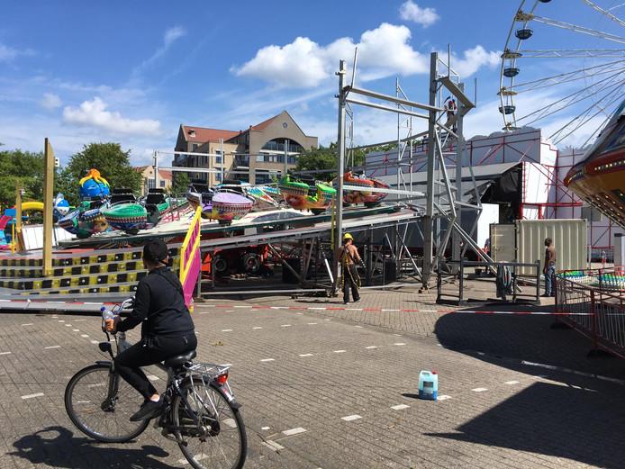 Na het ongeval op de Osse kermis werd de attractie verder opgebouwd.