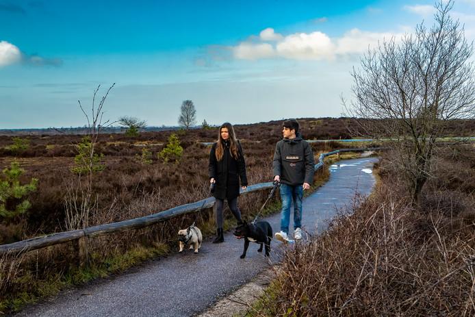 De winter is ook op de Sallandse Heuvelrug warm en nat. Boswachter Ine Nijveld waarschuwt bezoekers onder andere om honden aangelijnd te houden. Dit om verstoring van de natuur te voorkomen.