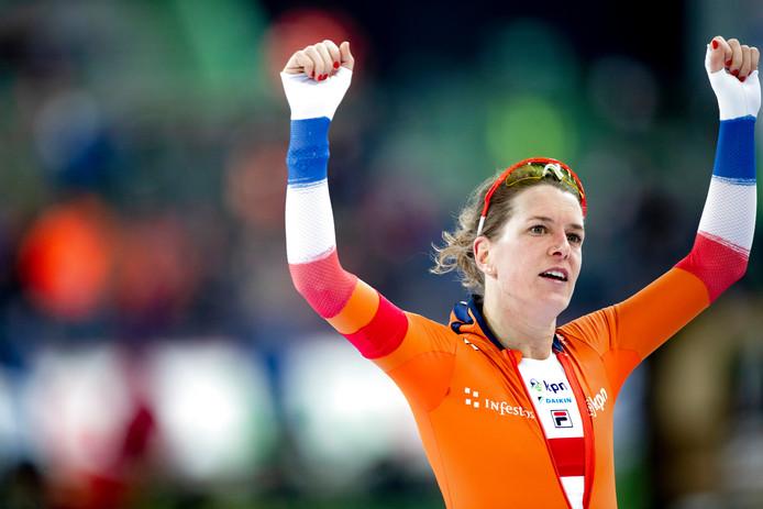 Wüst na het behalen van haar zevende wereldtitel allround.