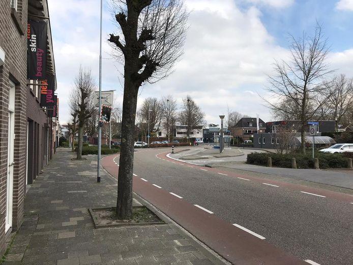 Dorpsstraat Goirle, ter hoogte van de bushalte
