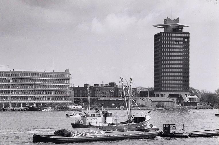 Toren Overhoeks in 1971 Beeld Stadsarchief